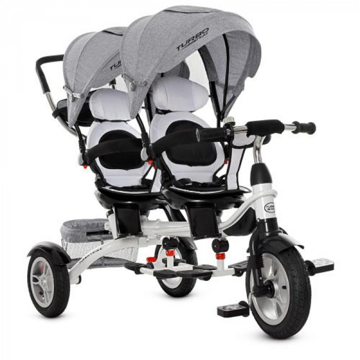 Трехколесный велосипед TURBOTRIKE M 3116TWA-19 Серый