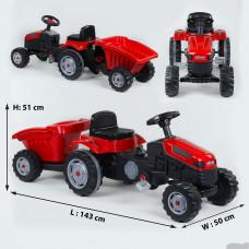 Трактор педальный с прицепом 07-316 RED