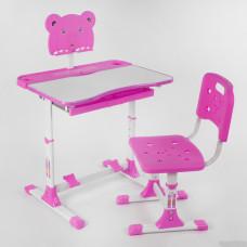 Парта со стульчиком P 1140 Розовая