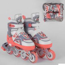 Ролики 6056-М Best Roller /размер 34-37/ цвет – КОРАЛЛОВЫЙ