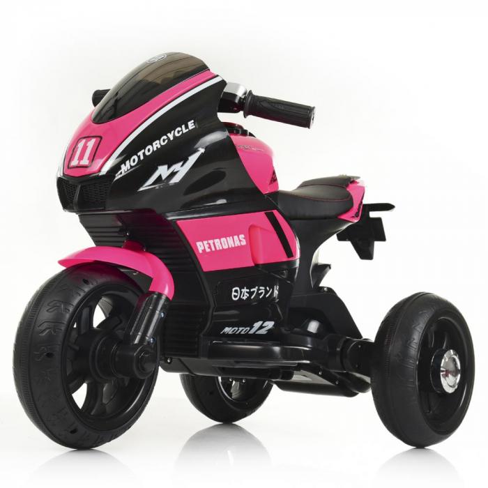 Мотоцикл Bambi M 4135EL-8 Розовый