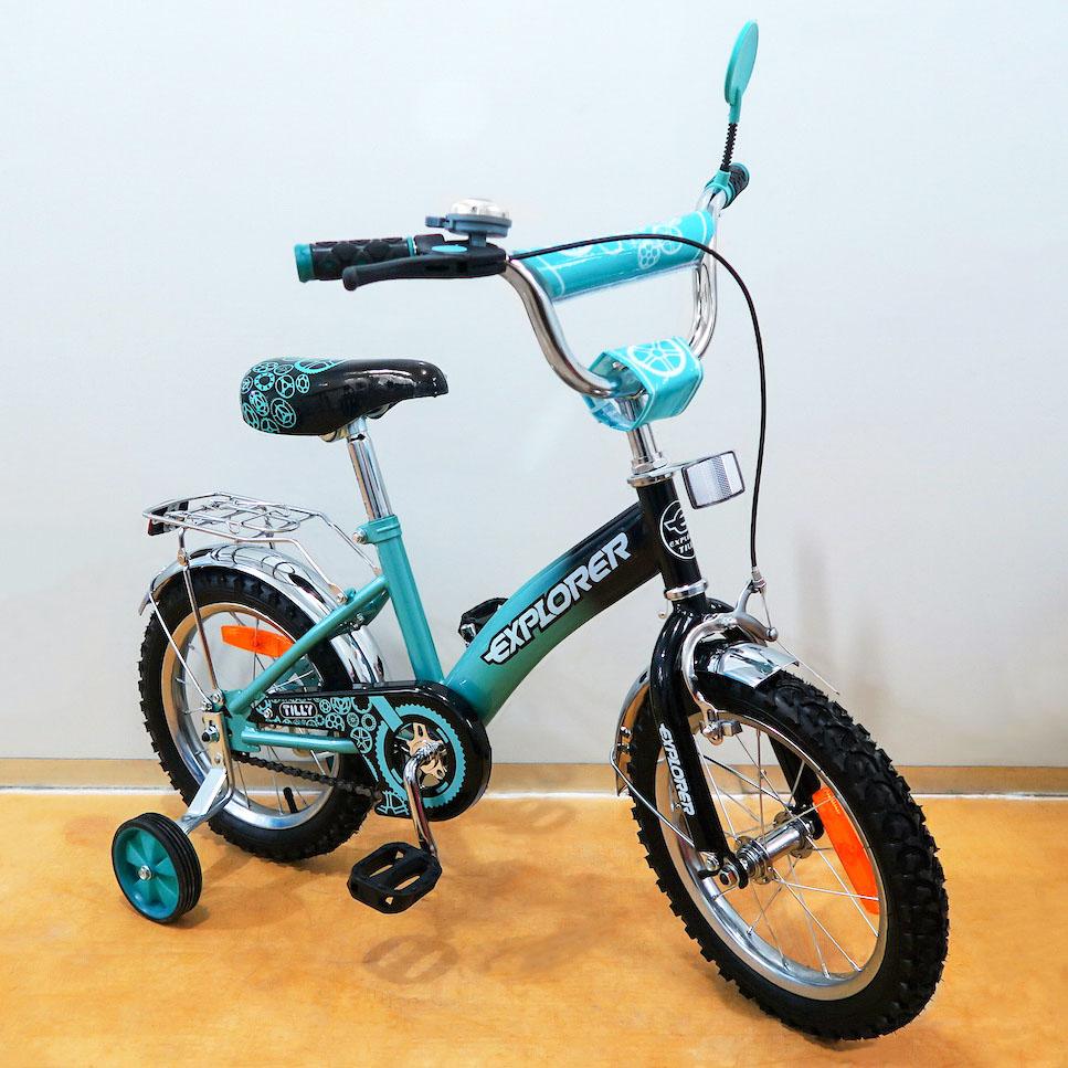 Детский Велосипед EXPLORER 14 T-21416 turquoise + black