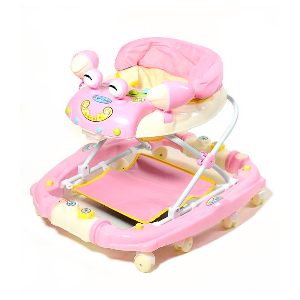 Детские Ходунки 22088 PINK с качалкой